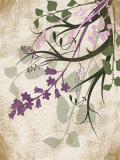 Lavender and Sage Florish II Posters by Jennifer Pugh