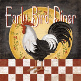 Early Bird Diner Art by Kathy Middlebrook