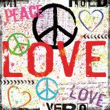 Love New : amour, paix Posters par Louise Carey
