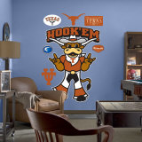 Texas Mascot - Hook'Em Wall Decal