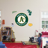 Oakland Athletics Logo Wall Decal