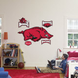 Arkansas Razorbacks Logo Wall Decal