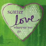 Scatter Love Kunstdrucke von Linda Woods