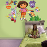 Dora, Backpack & Boots Wall Decal