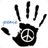 Peace Hand Posters by Louise Carey