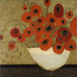 Frida's Poppies Poster af Karen Tusinski