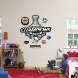 Pittsburgh Penguins Stanley Cup Champions Logo Wall Decal