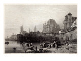 The City of Cologne, engraved by M.J. Sterling Giclee Print by William Leighton Leitch
