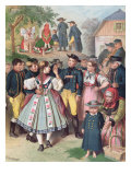 Village Fete in Bohemia Giclee Print by Albert Kretschmer