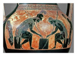 Black-Figure Amphora Depicting Ajax and Achilles, C.540 Bc Reproduction procédé giclée par Exekias