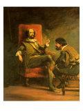 Don Quixote and Sancho Panza Giclee Print by Sir John Gilbert