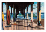 The Pier Poster by Scott Westmoreland