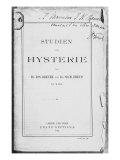 Front Cover of 'Studien uber Hysterie' by Josef Breuer Lámina giclée por Freud, Sigmund