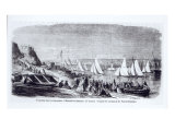 The First Regattas at Marseilles, from 'Le Monde Illustre', 9th November, 1861 Giclee Print by Pierre Blanchet