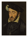 Portrait of Henri II of France Reproduction proc&#233;d&#233; gicl&#233;e par Francois Clouet