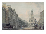 The Strand with Somerset House and St. Mary's Church Giclee Print by Thomas Malton