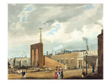Entrance from 'Coloured View of Liverpool and Manchester Railway' Giclee Print by Thomas Talbot Bury