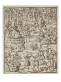 A Royal Picnic, Plate from 'Noble Art of Venerie and Hunting' by George Turberville, 1575 Giclee Print