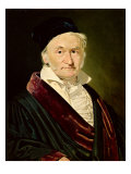 Portrait of Carl Friedrich Gauss, 1840 Giclee Print by Christian-albrecht Jensen