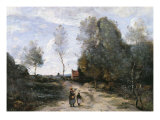 The Road Giclee Print by Jean-Baptiste-Camille Corot