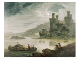 Conway Castle, 1794 Giclee Print by Julius Caesar Ibbetson