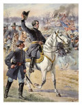 Major General Hooker at the Battle of Chancellorville, Virginia, 3rd May 1863 Giclee Print by Mathew Brady & Studio