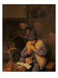 The Flute Player Giclee Print by Adriaen Jansz. Van Ostade