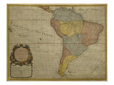 Map of South America, Published in 1700, Paris Reproduction proc&#233;d&#233; gicl&#233;e par Guillaume Delisle