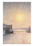 Sun and Snow, Scene from Stockholm Giclee Print by Per Ekstrom