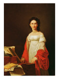 Portrait of the Singer Anna Borunova, 1821 Giclee Print by N. De Courteille