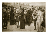 The Moment of Farewell: a Touching Scene at Victoria Station During War Time, 1914-19 Giclee Print by Frank Dadd