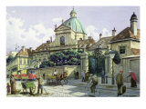 Below the Belvedere Palace in Vienna Giclee Print by Richard Pokorny