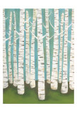 Summer Birches Prints by Lisa Congdon