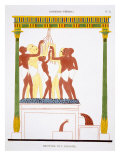 Treading Grapes, from a Rare Record of Frescoes from Thebes, recorded 1819-1822 Giclee Print by Frederic Cailliaud