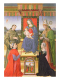 Madonna and Child with Saints Gicle-tryk af Raffaellino Del Garbo
