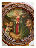 The Virgin Adoring the Christ Child with St. John the Baptist and Two Angels Giclee Print by Francesco Botticini