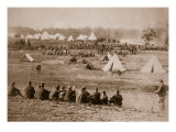 Camp of Confederate Prisoners, 1861-65 Giclee Print by Mathew Brady & Studio