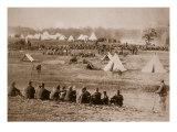 Camp of Confederate Prisoners, 1861-65 Giclee Print by Mathew Brady & Studio