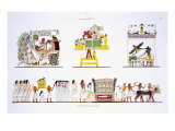 Funerary Rites, from a Rare Record of Frescoes from Thebes, recorded 1819-1822 Giclee Print by Frederic Cailliaud