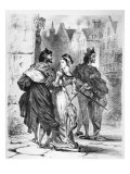 Faust Meeting Marguerite, from Goethe's Faust, after 1828 Giclee Print by Eugene Delacroix