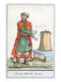Tatar Man of Kazan with a Beehive, from &#39;Encyclopedie des Voyages&#39;, engraved by J. Laroque, 1796 Giclee Print by Jacques Grasset de Saint-Sauveur