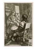 Artist at Work, from 'Recueil de Figures..', pub. Paris, 1737 Giclee Print by Abraham Bosse