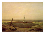 Evening Giclee Print by Caspar David Friedrich