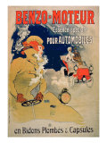 Poster Advertising 'Benzo-Moteur' Motor Oil Especially for Automobiles, 1901 Giclee Print by Jules Chéret