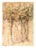 Study of Mourning Women Giclee Print by  Michelangelo Buonarroti