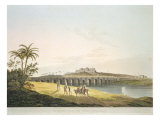 The Armenian Bridge, Madras, From 'Oriental Scenery: Twenty Four Views in Hindoostan', engraved by  Giclee Print by Thomas Daniell