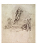 Study for an Ascension Giclee Print by Michelangelo Buonarroti 