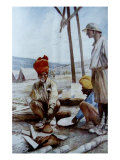Indian Cavalrymen at Rest, 1917 Giclee Print by Francois Flameng