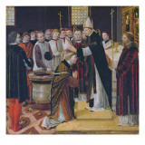 Ordination of St. Augustine Giclee Print by  Ambrogio da Fossano