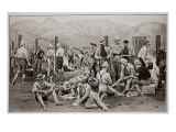 British Prisoners Waiting for Release: the Camp at Nooitgedacht Giclee Print by Frank Dadd